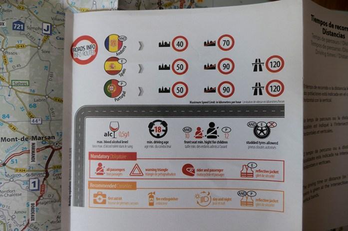 Informação de regras de trânsito dos países contemplados