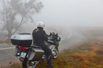 Andar de mota no Inverno