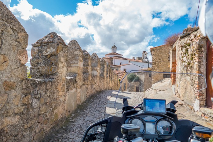Trujillo, Extremadura, Espanha com o Garmin Zumo XT