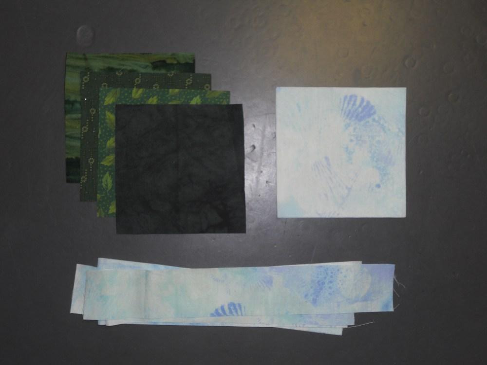 Treeline Border for Turtles Quilt (1/6)