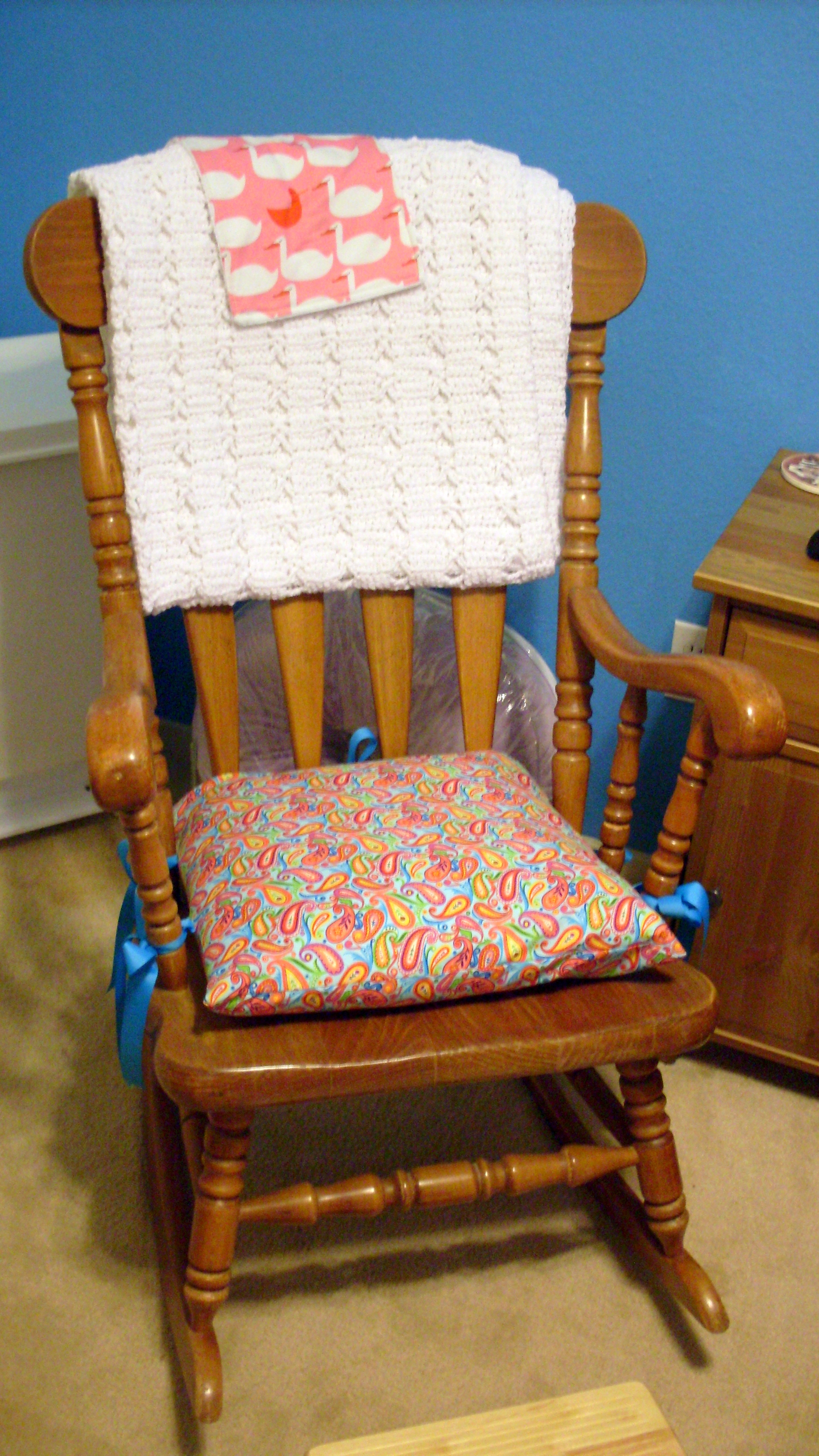 indoor rocking chair cushion sets quirky bedroom pattern  pads and cushions