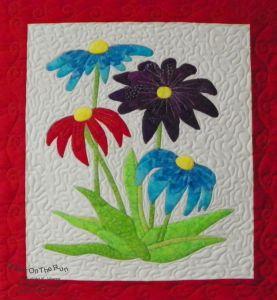 needle turn applique machine flowers quilting quilt