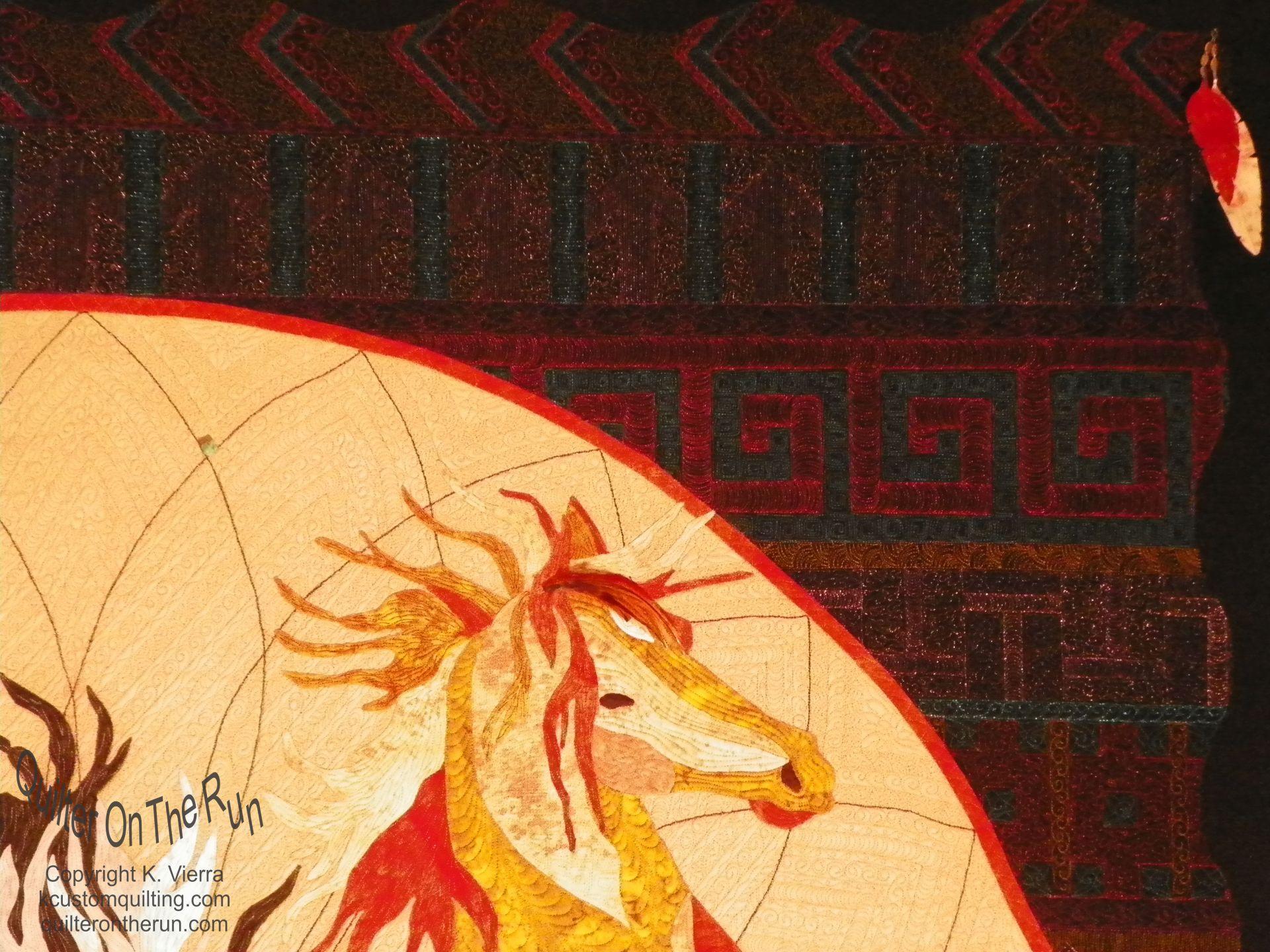 roan horse wild pony seminole indian designs quilting