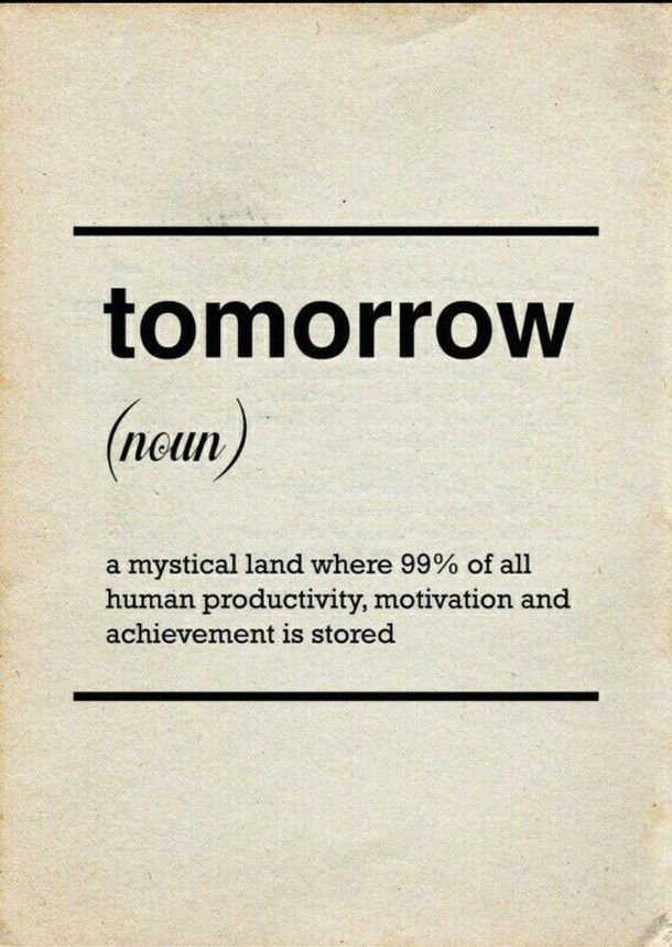 Tomorrow Doesn't Exist