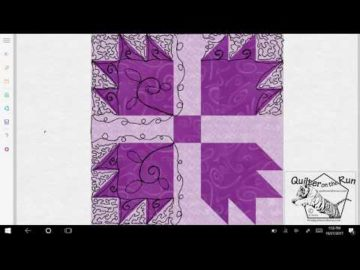 Bear Paw Quilt Block Quilting Variation #3