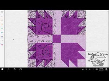 Bear Paw Quilt Block Quilting Variation #3