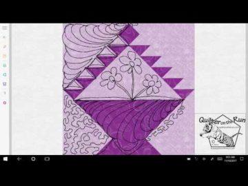 Basket Block Free Motion Quilting Ideas Variation #5
