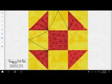 Shoofly Quilt Block Quilting Ideas Variation #7