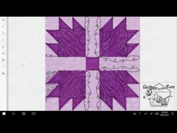 Bear Paw Quilt Block Quilting Variation #5