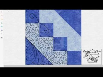 Free Motion Quilting Ideas for an Hourglass Block Variation #7
