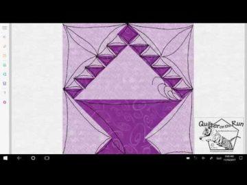 Basket Block Free Motion Quilting Ideas Variation #4