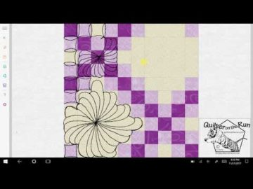 Free Motion Quilting Ideas for a Double Irish Chain Variation #3