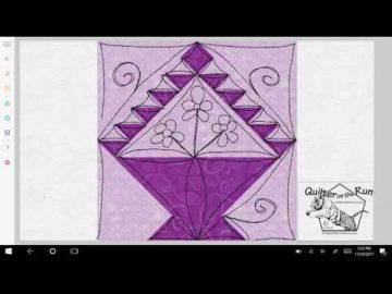 Basket Block Free Motion Quilting Ideas Variation #7