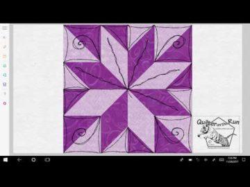 Free Motion Quilting Ideas Lemoyne Star Variation #3