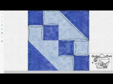 Free Motion Quilting Ideas for an Hourglass Block Variation #1