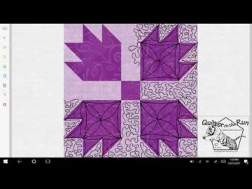 Bear Paw Quilt Block Quilting Variation #2