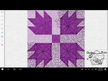 Bear Paw Quilt Block Quilting Variation #2