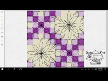 Free Motion Quilting Ideas for a Double Irish Chain Variation #4