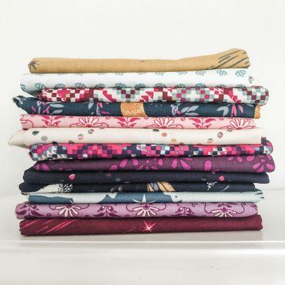 Sisu Fabric in purples and cream