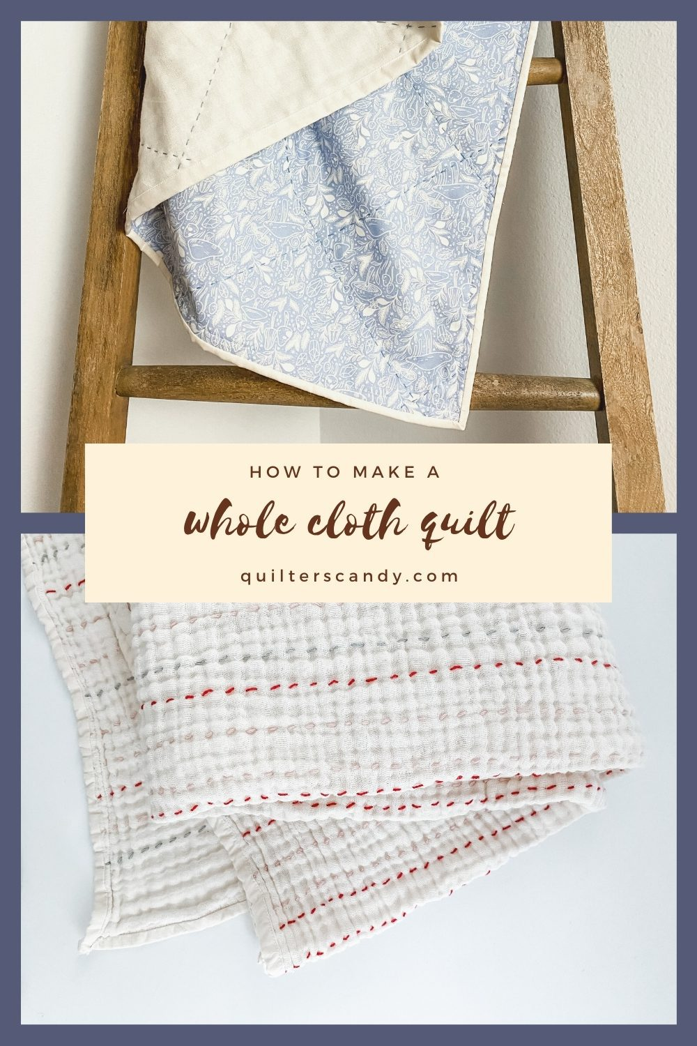 How to make a whole cloth quilt with 4 layer gauze
