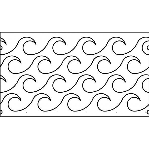 Waves quiltez 13 inch waves quilting template pronofoot35fo Images