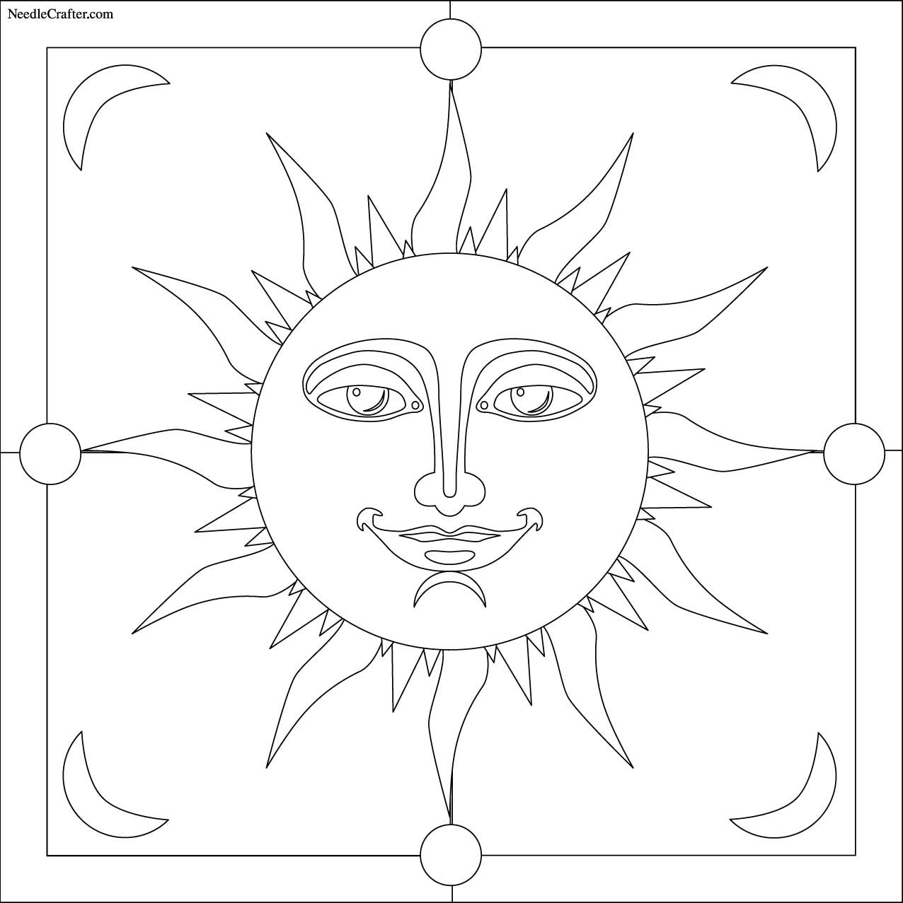 Free: Sun embroidery pattern
