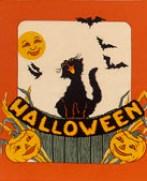 halloween cat panel