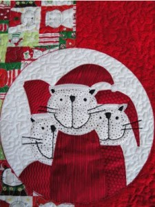 Santa Cats Table Runner