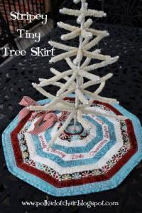stripey tiny tree skirt