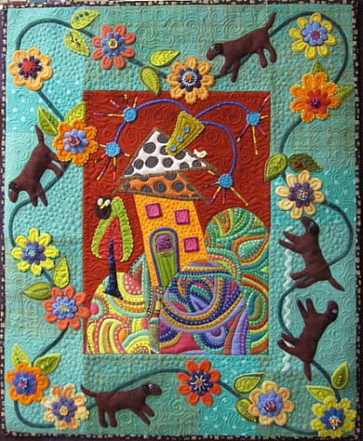 Folk Art Quilt Ideas : Inspiration: Modern Folk Art quilt Quilting