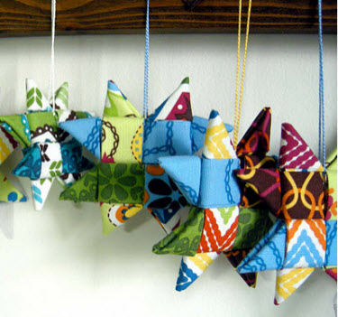 Tutorial Fabric Star Ornaments Quilting