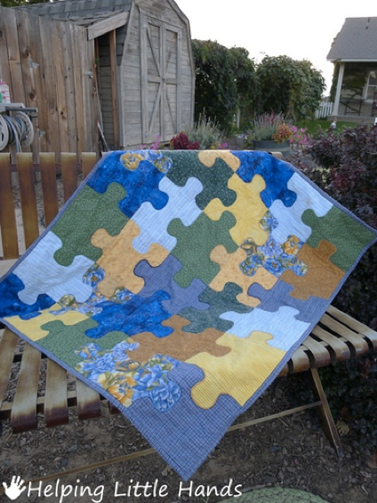 Tutorial Jigsaw Puzzle Baby Quilt Quilting