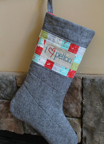 Tutorial Quilted Christmas Stocking Quilting