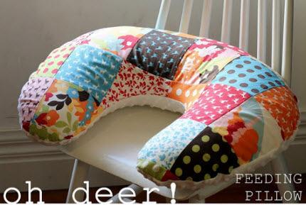 patchwork feeding pillow