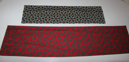 usable pieces of ties ironed