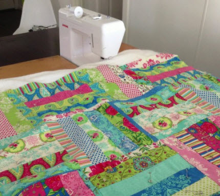 table extension with quilt