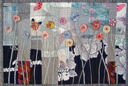 Garden in the Night Art Quilt