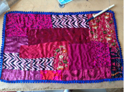 lacey crazy quilt mat