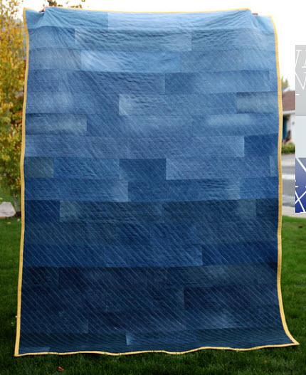 modern denim quilt