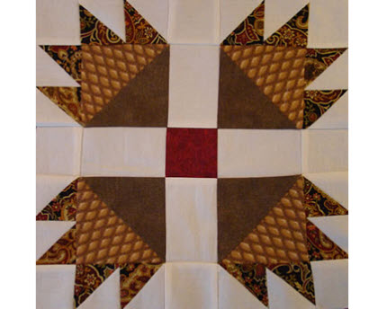 Bear Paw quilt block tutorial MattnShari