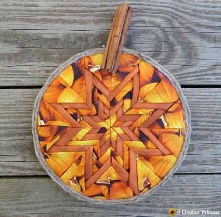 Folded star pumpkin tutorial
