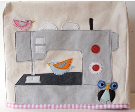 Applique Small Birdie Sewing Machine Cover