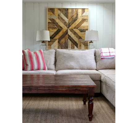 Make a wood plank quilt