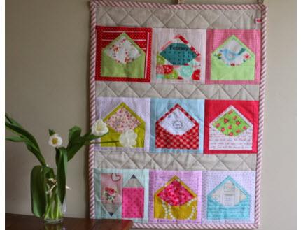 youve got mail valentine mini quilt