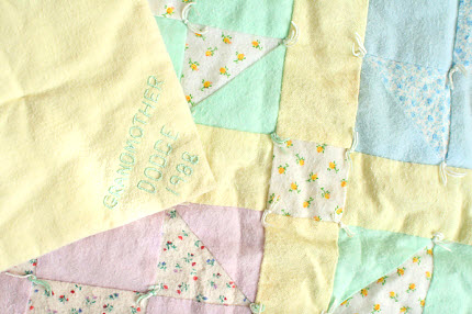 Grandmother Dodge 1988 vintage baby quilt