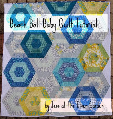beach ball baby quilt