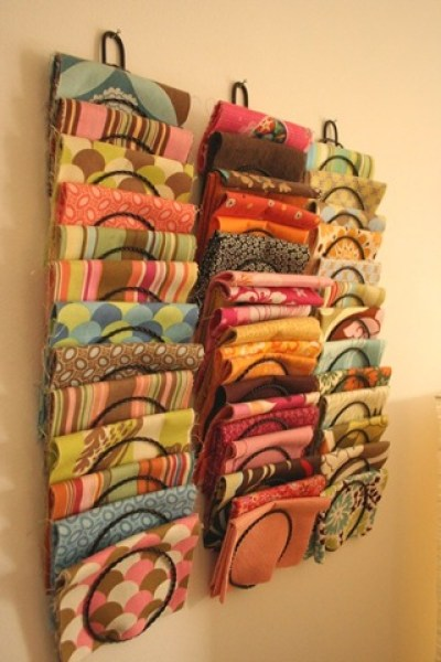 fabric magazine rack