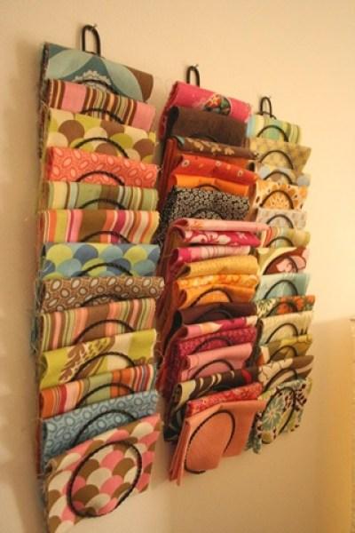 fabric magazine rack