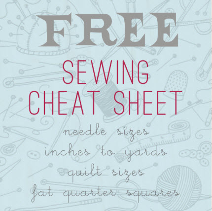 Sewing Cheat Sheet Marzipan