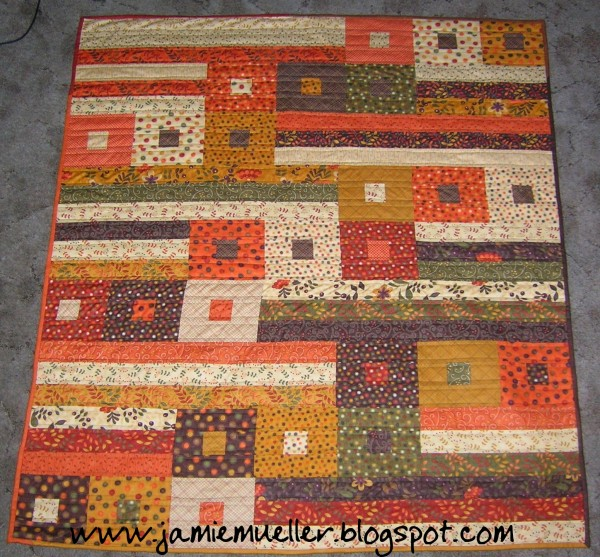 fall lap quilt